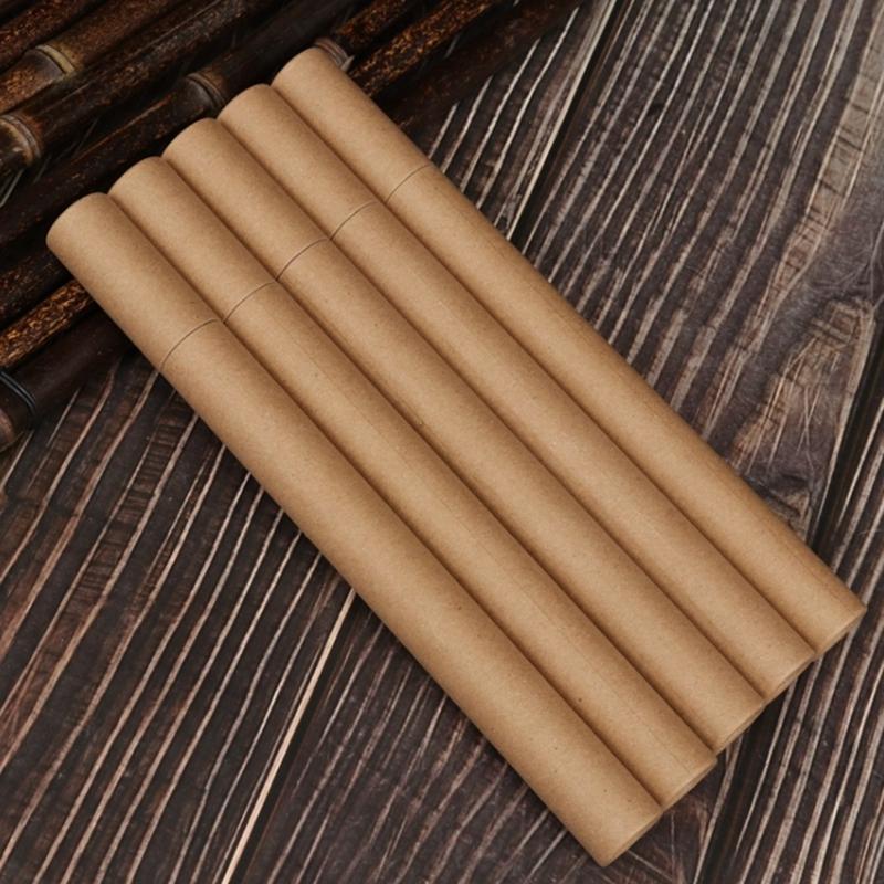 Tubo de incienso Kraft Paper Incense Barrel Caja de almacenamiento pequeña para 10g 20g Joss Stick Conveniente papel para llevar tubo de perfume de papel