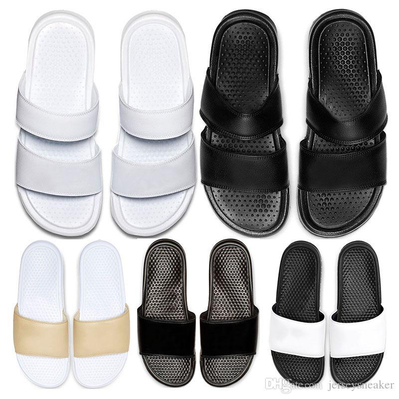 Yeni arrivel tasarımcı Terlik moda Classics Benassi JDI Duo Ultra Slayt erkek flip flop yaz Plaj sandalet spor boyutu 36-45 womens