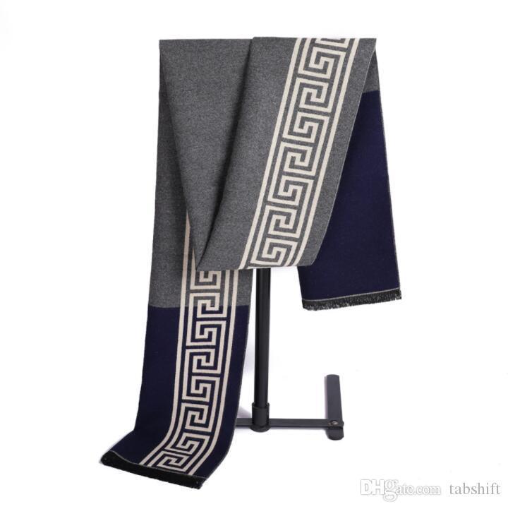 Mens Designer Schals 12 Styles Geometric Cashmere wie Scraf Kostenloser Versand Winter Classic Business Men Tücher