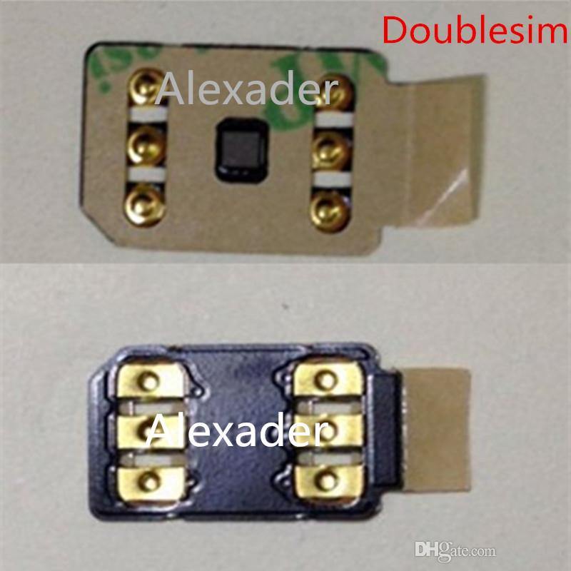 Kostenloser DHL 3M doppelseitiger Klebstoff Doppel-SIM-Entsperren-Karte 4G / 5G für iPhone 6 6S 7 8 x XS XR XSMAX 11 12
