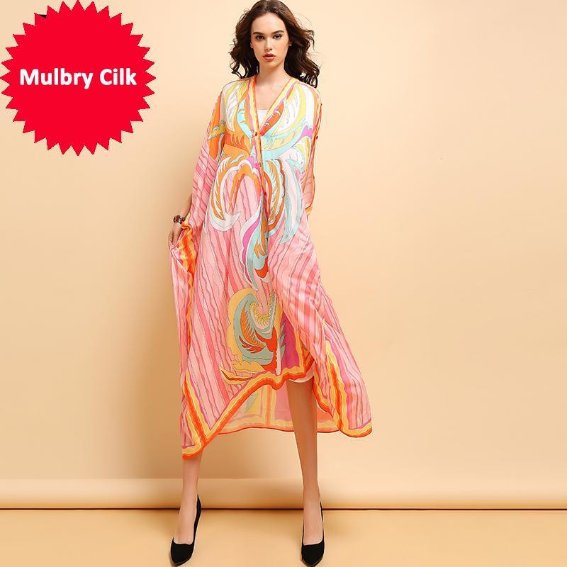 Mode d'été 5XL Plus Size Robe Femmes Sexy V-cou rayé imprimé bohème vacances loose Robes 2019