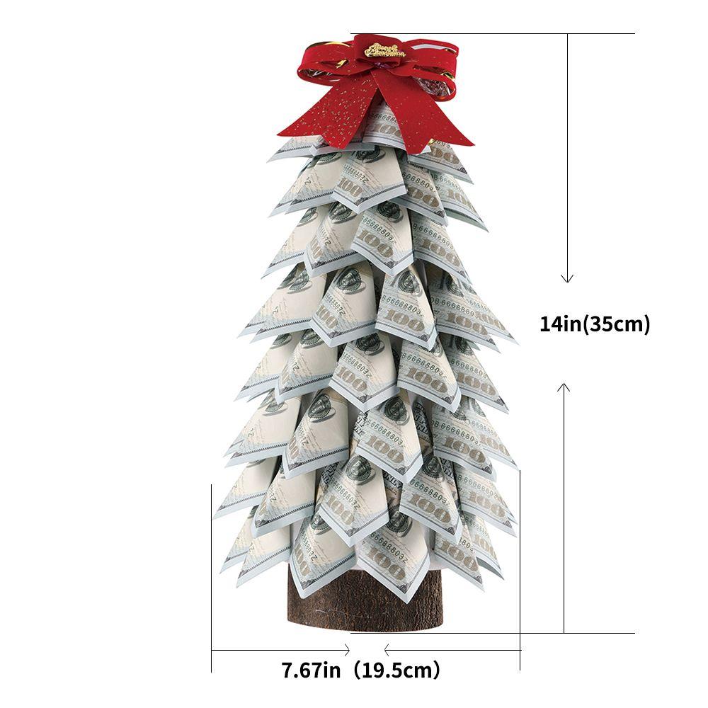 المال شجرة هدية الديكور المنزلي 100 دولار ورقة شجرة الأعمال هدية للرجال والنساء