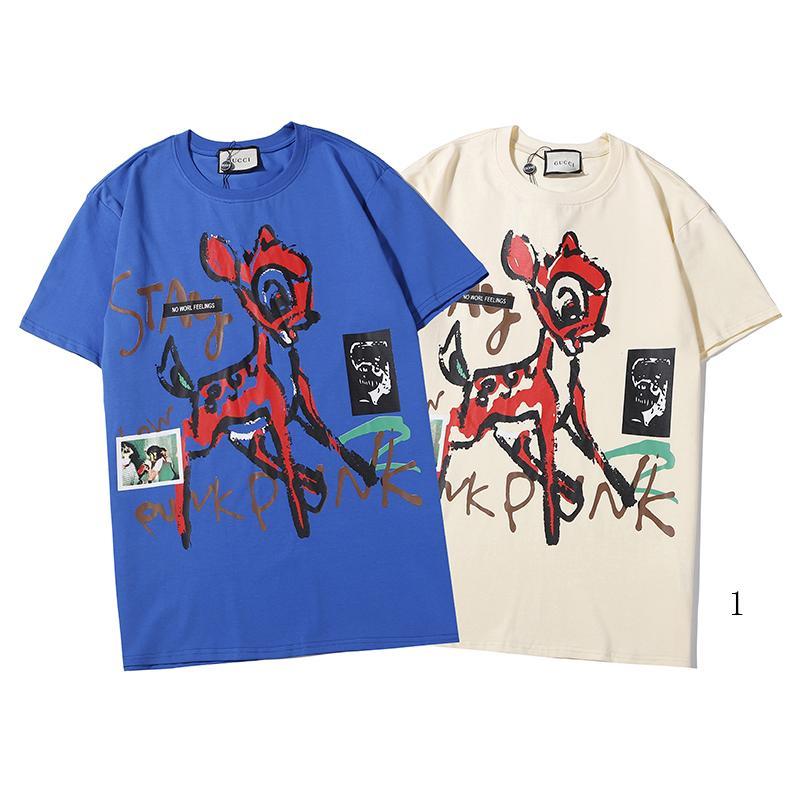 nouveau Hommes Femmes luxe Chemises d'été Mode Hommes Branded T-shirt à manches courtes T-shirts Haut Designered Lettre Imprimé Vêtements pour hommes 2020302K