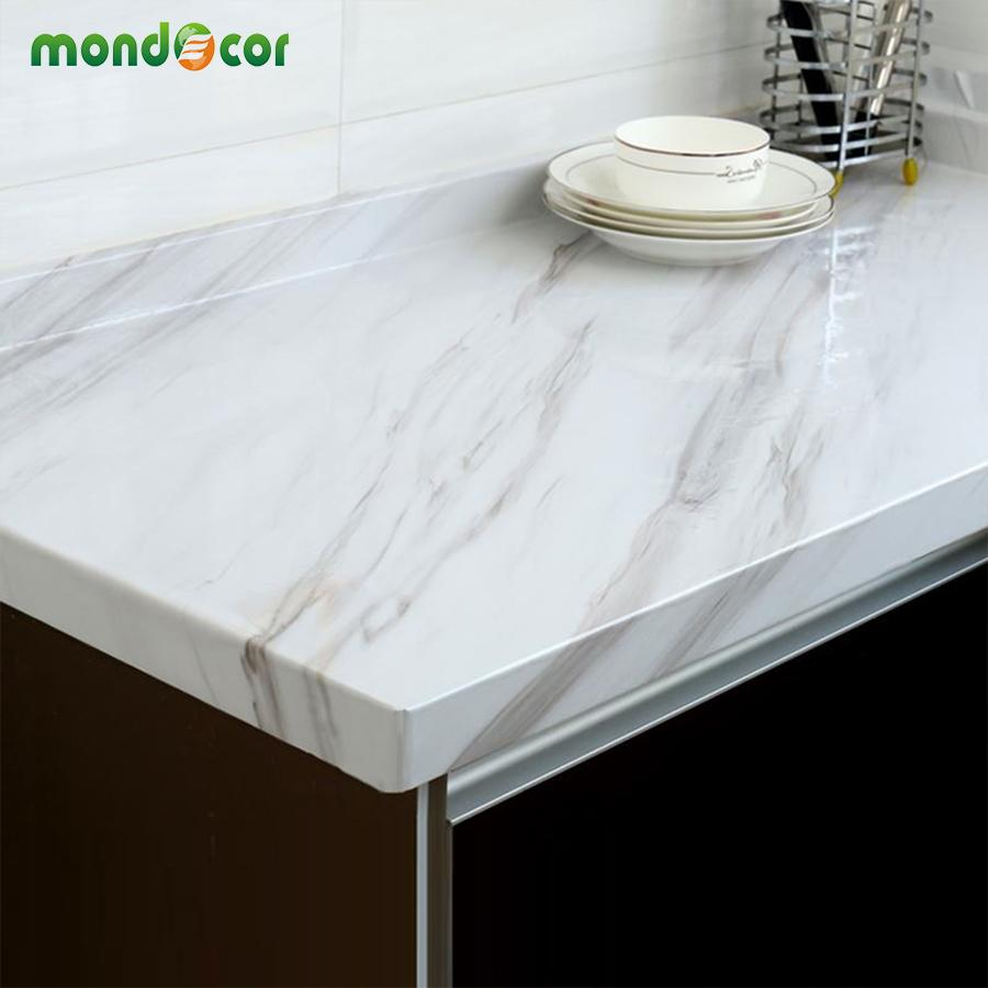 Waterproof Worktop Stone Marble Contact Paper Home Kitchen Decors Wall Stickers