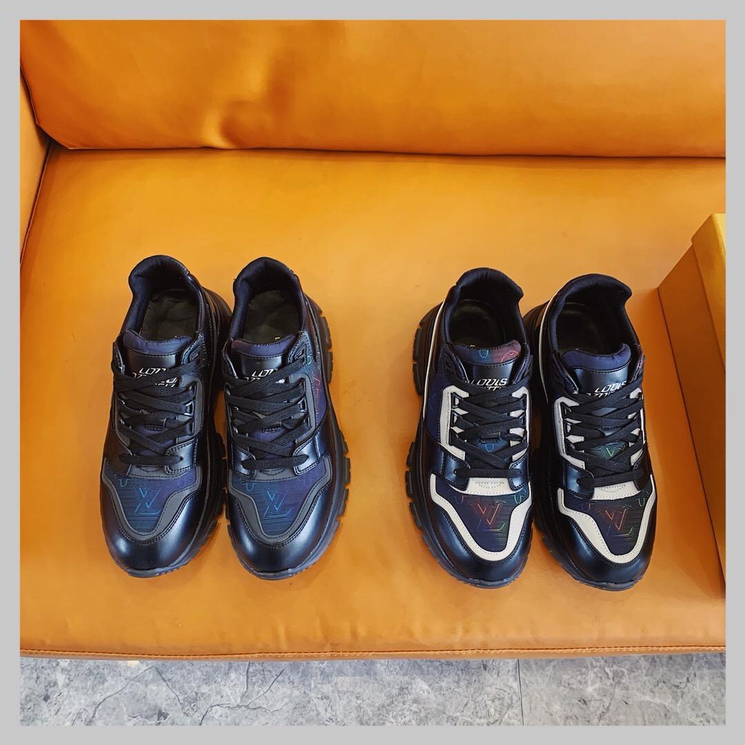 2020Дизайнер NEW Мужская обувь Прохождения кроссовкиLVЛуисМужчины Бизнес Повседневная обувь 38-45 000750-60
