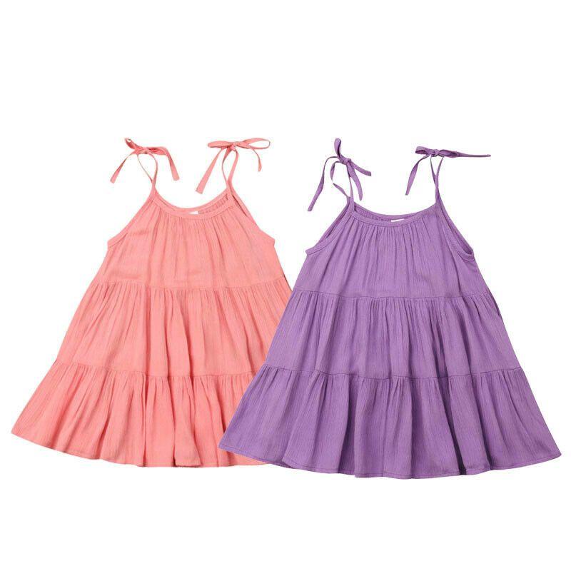 Toddler Kids Baby Girls Summer Party Pageant Princess Gown Tutu Dress Sundress