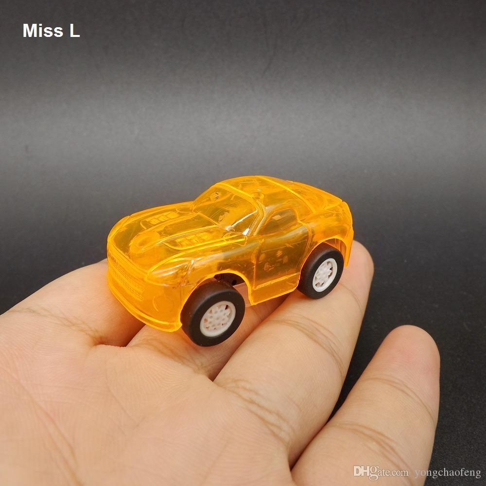 البرتقال التراجع ألعاب السيارات للأطفال لعبة سباق البسيطة كيد سيارة