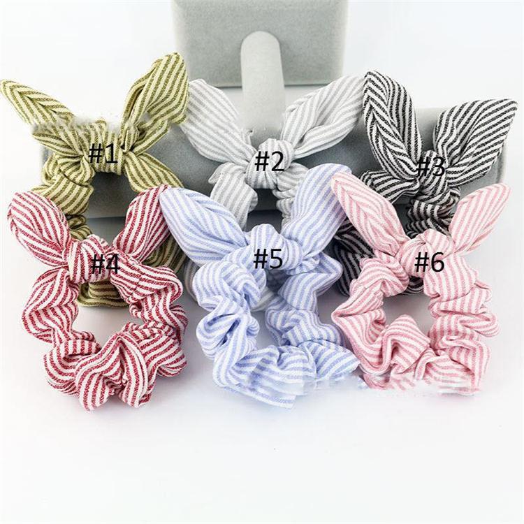 Stripe Elastic Cabelo Scrunchie Scrunchy Hairbands Cabeça Banda Rabo de Cavalo Titular Meninas princesa acessórios Criança Acessórios Para o Cabelo DHL MFJ572