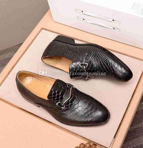 [Original Box] Luxus New Louise Herren Oxfords Echtes Leder Slip On Hochzeit Business Kleid Schuhe Größe 38-45