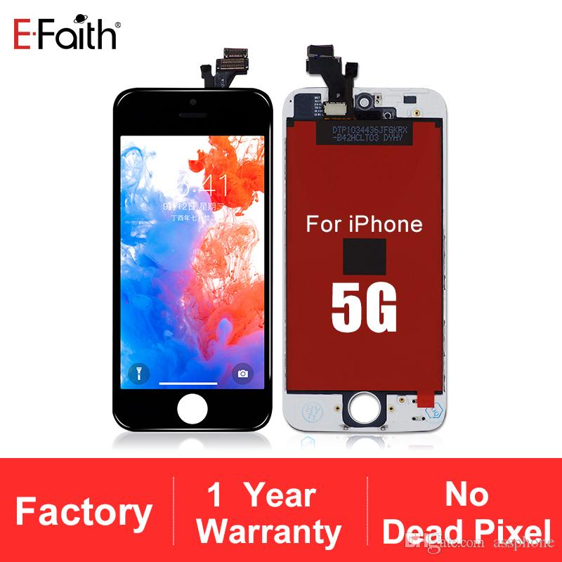 Hiçbir ölü piksel iphone 5 için lcd ekran lcd ekran dokunmatik ekran digitizer tam meclisi dhl kargo