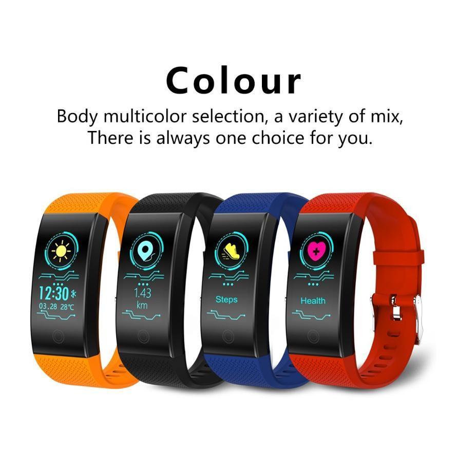 HOT intelligent Bracelet QW18 Tracker Fitness Wristband intelligent montre avec la fréquence cardiaque Pression artérielle IP68 Montre étanche pour iPhone Android