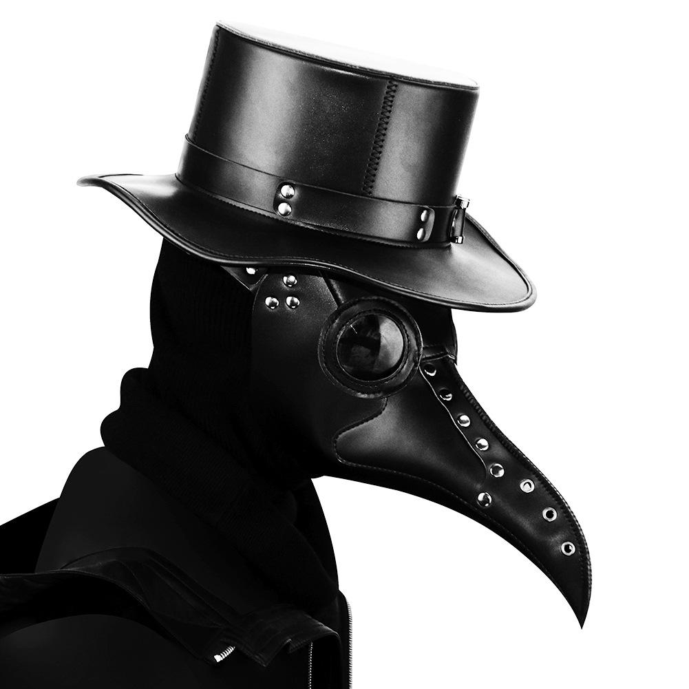 Halloween Steampunk plague mouth mask, luxury duplex props, masquerade ball mask, festival necessities of Halloween mask