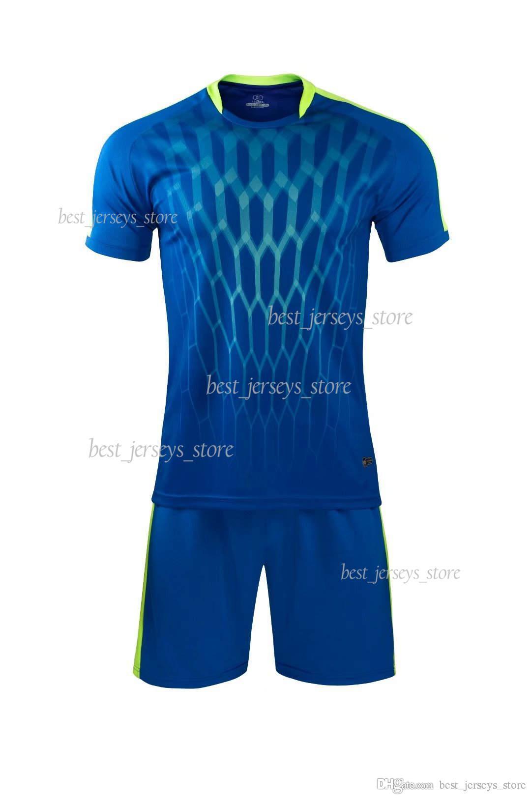 Nouveau costume de football de 2019 Pantalon imprimé à manches courtes + courtes pour hommes de formation de la concurrence Porter un séchage rapide et absorbant la transpiration d'été 86