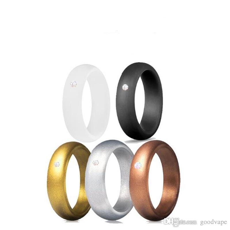 Dedo colorido anel de silicone anel de borracha de silicone da pele para mech proteção vape mod vape vaporizador tanques rda decorar diamante dhl livre