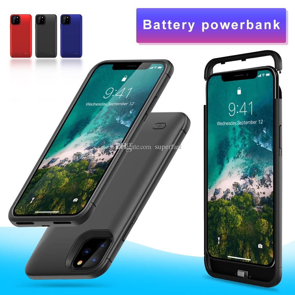 Battery Charger Case for iPhone 11 Pro X XS XR Power Bank Case Ultra Silm Rechargeable Powerbank Battery Backup with Package