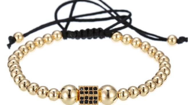 8mm jtj4 gold silver Copper cz zircon cubic zirconia elastic adjusted Healing Balance Reiki Chakra Buddha Yoga Bracelet Bangles