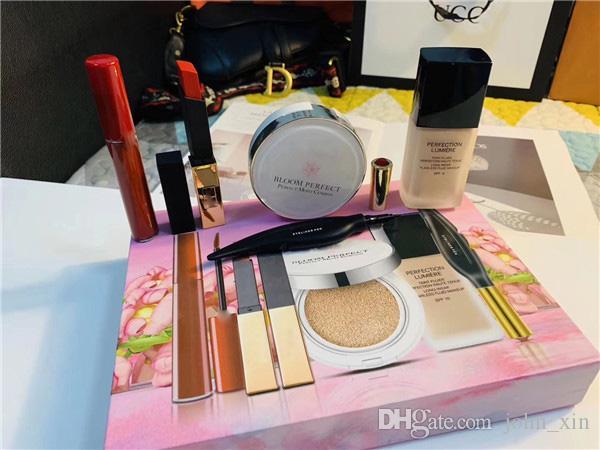 Nueva llegada Famosa 5 Marca Kit de maquillaje, Cojín BB, Eyeliner, Lipgloss, Lápiz labial, Fundación 5 en 1 con alta calidad