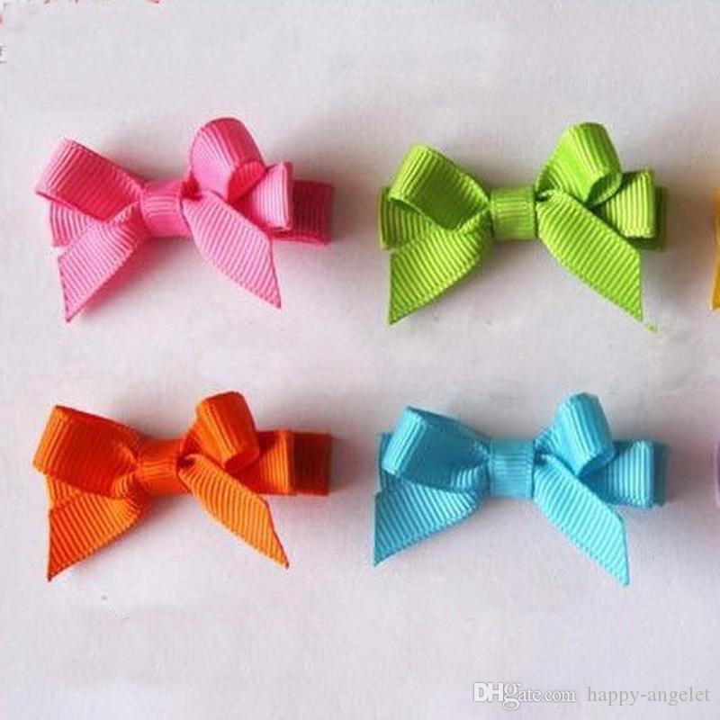 Adorável Cabelo De Cabelo Arcos De Cabelo Clipes Arco-íris Para Crianças Crianças Duckbill Duckpin Candy Color Mini Barrettes Acessórios 50pcs FJ3212
