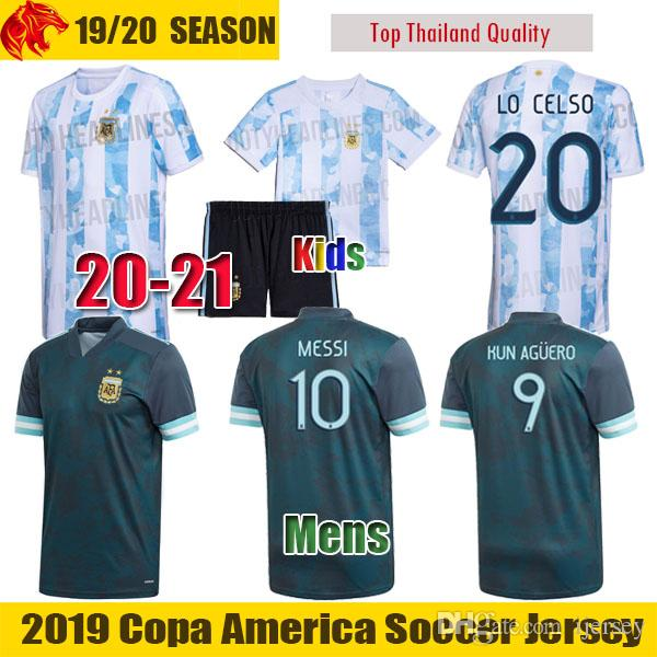 2020 20 21 Argentina Soccer Jerseys Messi 2020 2021 Lautaro Football Shirt Kun Aguero Mens Uniform Kids Kit Lo Celso Dybala Jersey From Ijersey 13 05 Dhgate Com