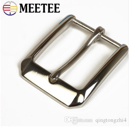 40mm Width Stainless Steel Belt Buckle Men's Pin Buckle DIY Leather Craft Hardware Jeans Accessories for 38-39mm Belt
