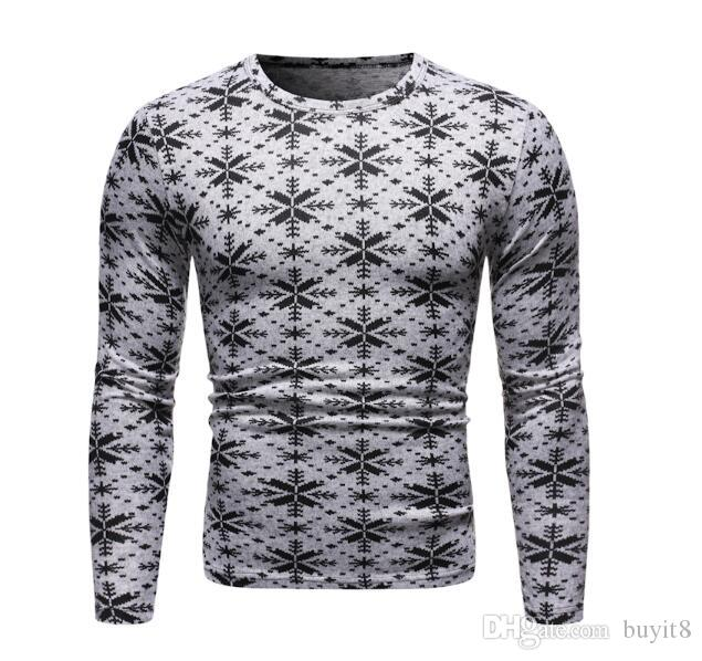 Frieed Mens Snowflake Xmas Jumper Thick Long Sleeve Reindeer Pullover Sweater
