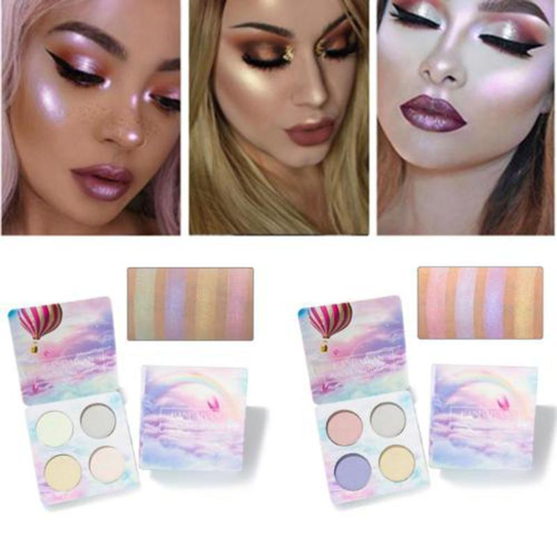 1Pcs 4 Color Shimmer Matte Eye Shadow Easy To Wear Long Lasting Highlight Eyeshadow Palette For Stylish Women Makeup Tools
