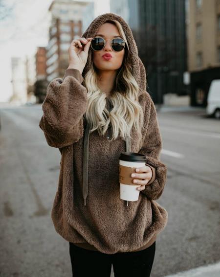 Womens Designer Velvet camisolas casual manga comprida cor sólida Moletons Moda Aqueça Hoodie Tops Vestuário Womens