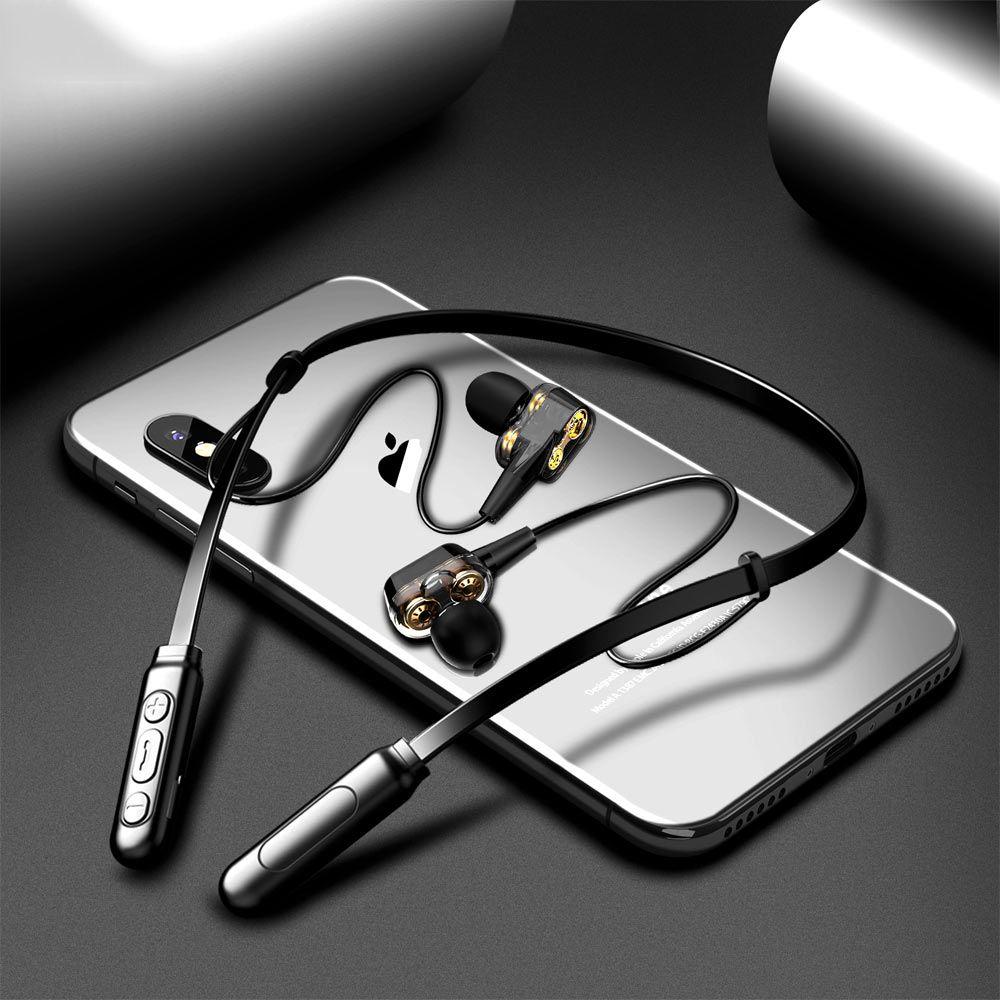 G01 Écouteurs Bluetooth Headphones sans fil Quatre unité Drive Double Dynamisme Hybride Hybride Deep Bass Écouteur pour téléphone avec micro 5,0
