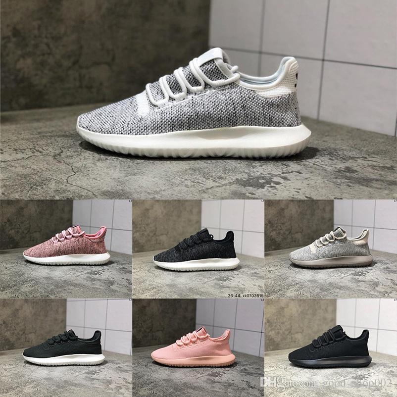 2019 Moda Tübüler Gölge Örgü Kadın Koşu Ayakkabıları Üçlü Beyaz Siyah Pembe Erkek Eğitmenler Tasarımcı Sneakers Chaussures Zapatos Boyutu 36-44