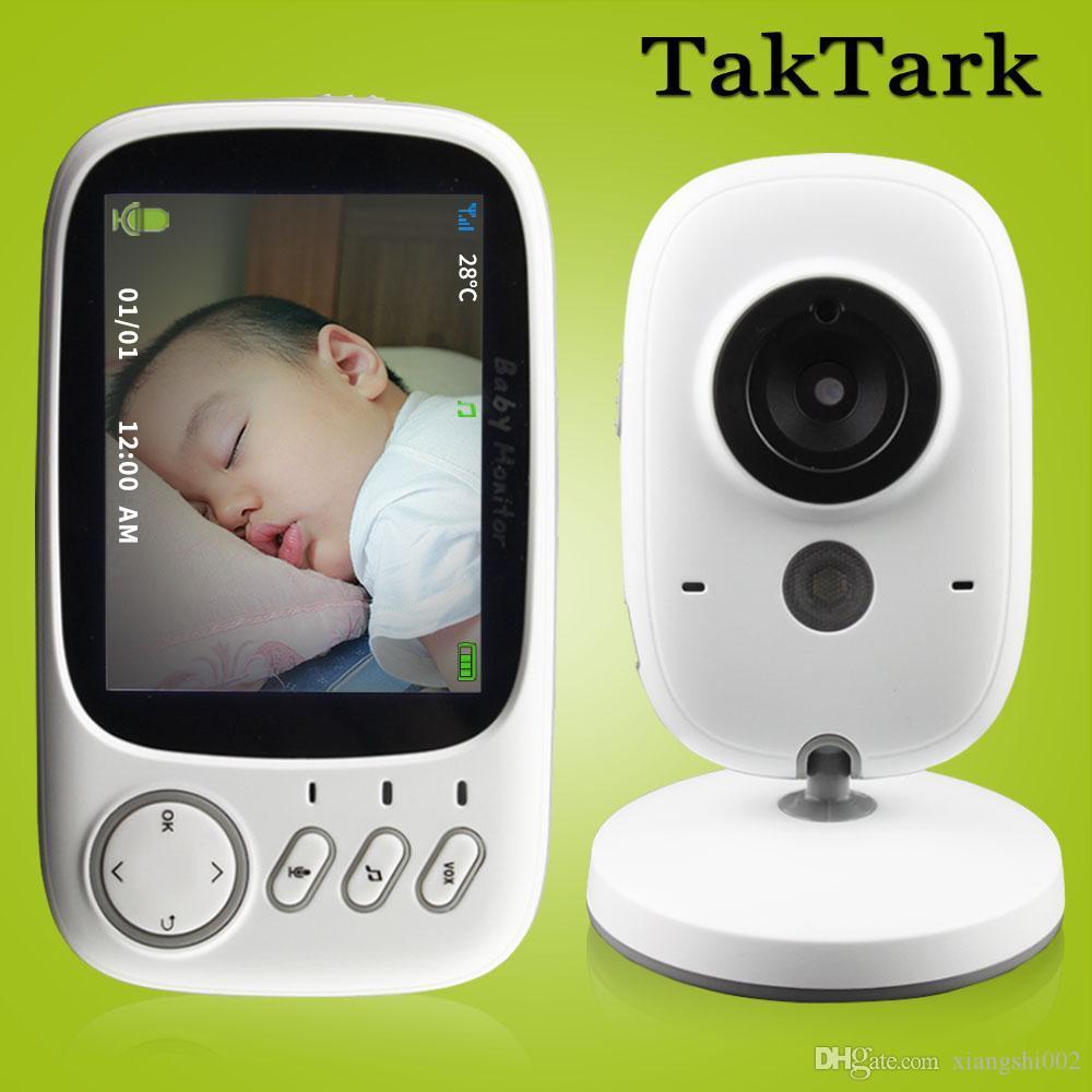 A colori wireless Baby Monitor Video ad alta risoluzione bambino Nanny sicurezza visione notturna monitoraggio della temperatura da 3,2 pollici