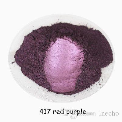 buytoes 500 gramos rojo púrpura Color Cosmético Mica Perla Pigmento Polvo de polvo para bricolaje Nail Art Polish y maquillaje Sombra de ojos, jabón DIY