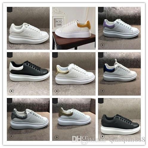 مصمم العلامة التجارية جلد طبيعي أبيض عارضة أحذية للرجال النساء المنخفضة قطع أحذية رياضية متعطل الأزياء في الهواء الطلق المشي القيادة 35-44