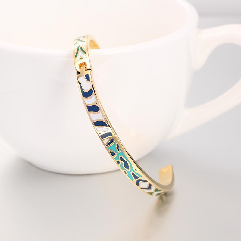 R&X Detalles Boda Women Jewelry6MM Stainless Steel Bangle Bracelet Bijoux Femme Fine Regalos Enamel Bangles Esmaltes