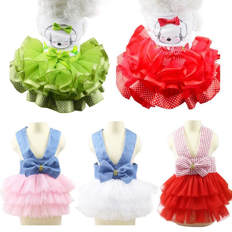 Mode Robe d'été pour chien mignon robe de princesse chien chat robes de mariage pour Yorkie Chihuahua Puppy dentelle Jupes Vêtements Vêtements pour animaux