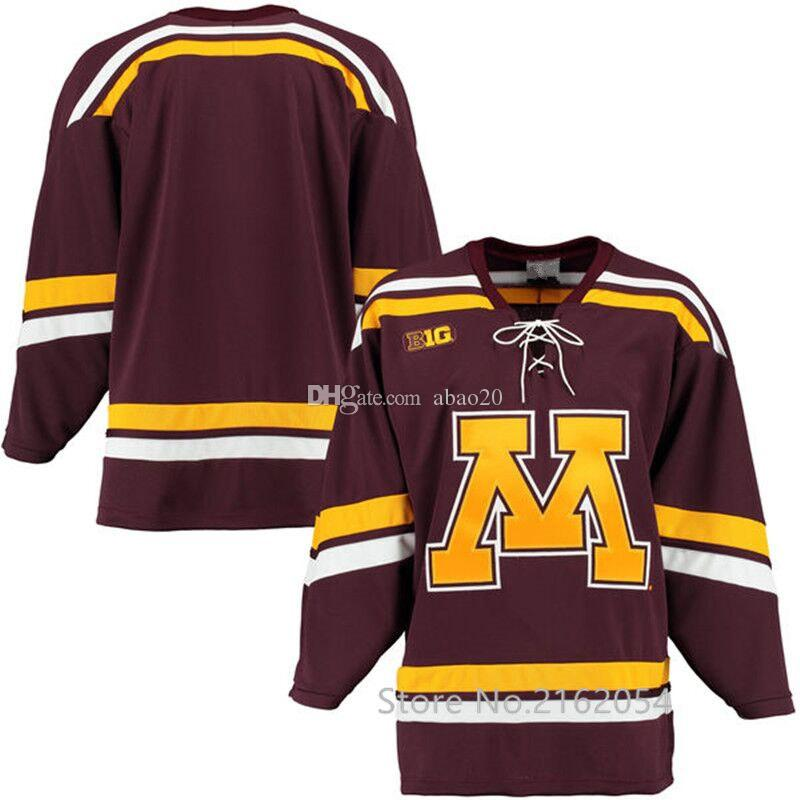 pretty nice 8cc43 3bd7f 2019 Minnesota Golden Gophers Maroon K1 College Hockey Jersey Purple Retro  Embroidery Stitched Custom Any Number And Name Jerseys From Abao20, $52.79  ...