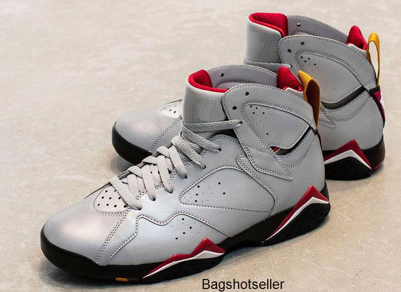 2020 New 3M Jumpman 7 Reflektierende Cardinal Retro Basketball-Schuhe Patta x Ray Allen WECHSELN OLYMPIC 7s Sports athletische Turnschuh-Schuhe