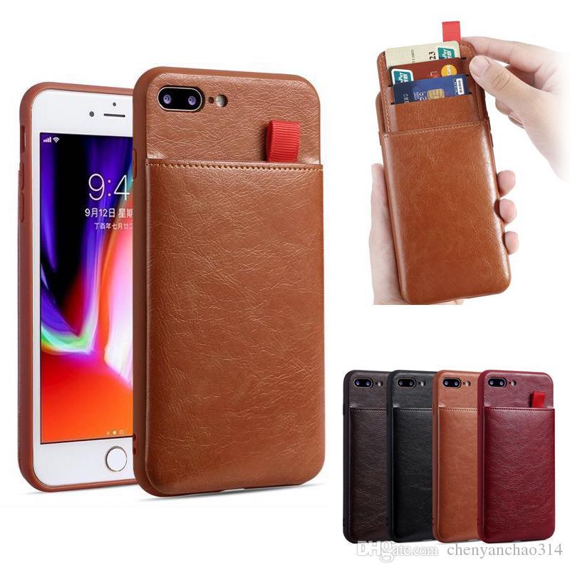 FFor iPhone X XR XS Max De Luxe PU En Cuir Fente Pour Carte Stand Personnalisé Téléphone Cas Slim Couverture Pour iPhone 10 6 6S 8 7 Plus Coque