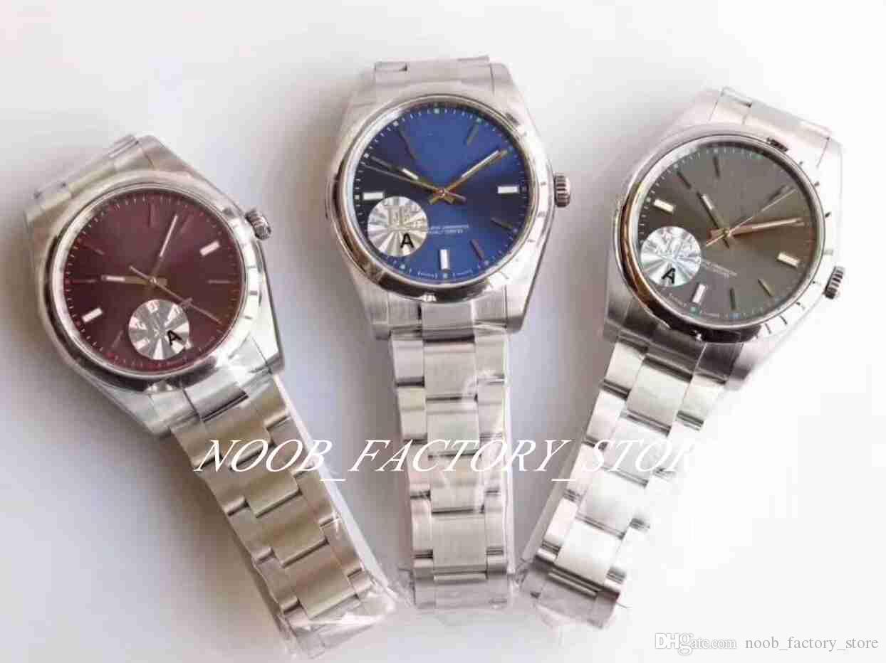 Luxus Beste Qualität JF Fabrik Version 39mm 3 Farboptionen 114300 ETA Cal.3132 Automatische Sportwächtzuge Bezel Herren Tauch Armbanduhren Watch