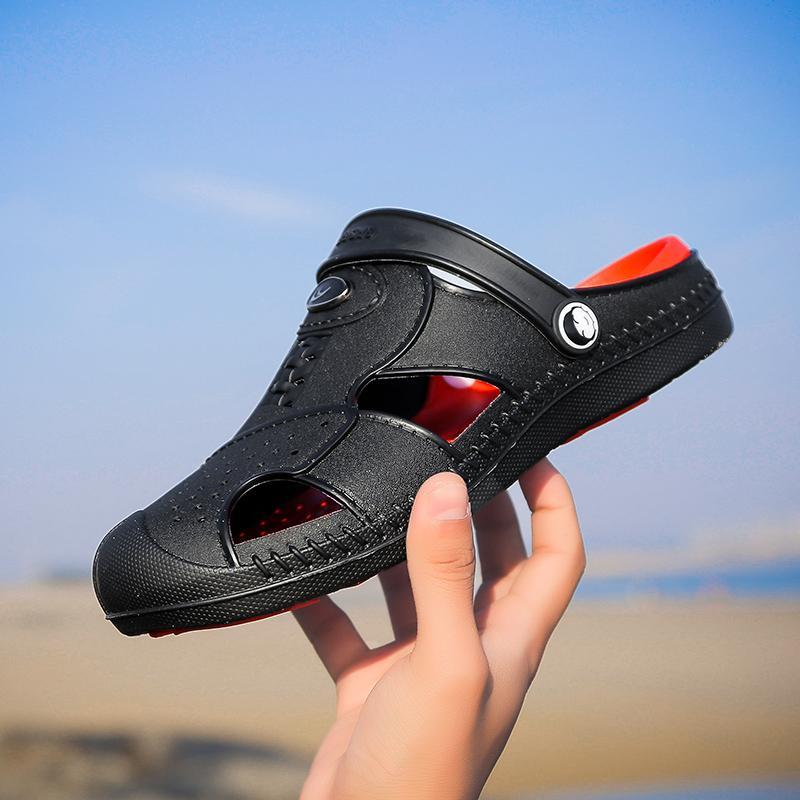 NOUVEAU NOUVEAU Jardin Flip Flops Chaussures d'eau Hommes Tenis Plat Summer Beach Aqua Slipper Sandales de baignade en plein air Chaussures de jardinage