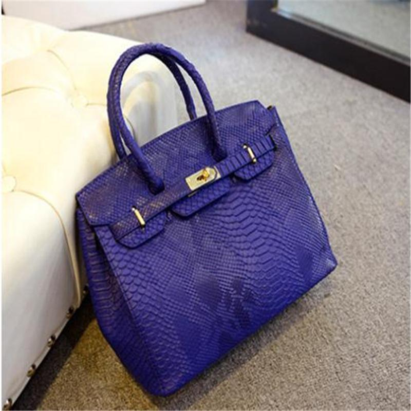 Toptan-2016 Yeni Tasarımcı çanta Yüksek Kalite Yılan Cilt Çanta Kadın Messenger Çanta Deri Omuz Çantası Kadınlar Çanta Çanta