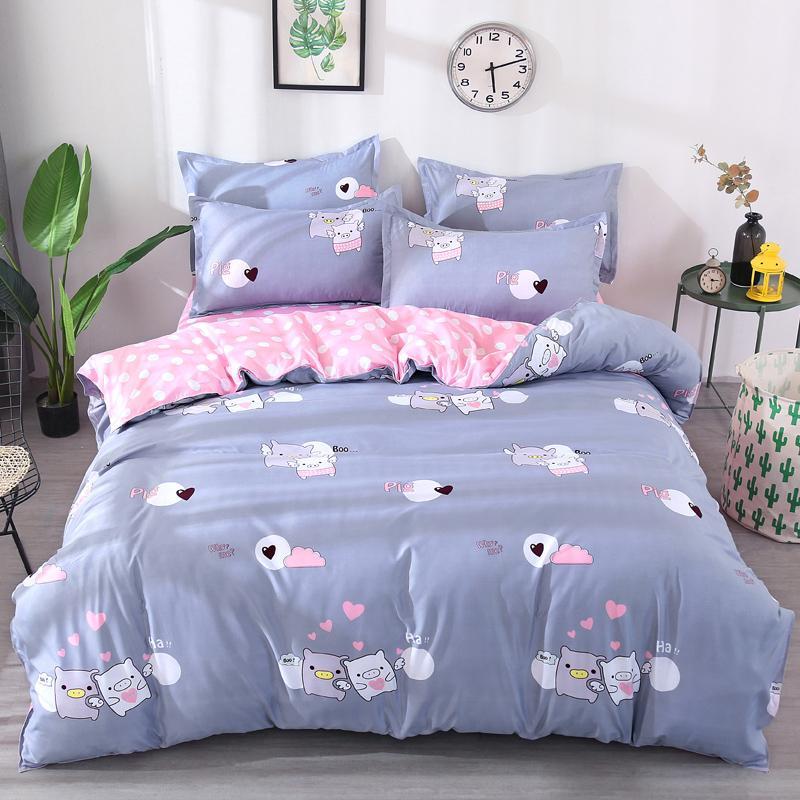Hot Style Pigs Printing Bedding Set 2pcs/3pcs Duvet Cover Set 1 Quilt Cover+1/2 Pillowcases(no Blanket or Sheet)