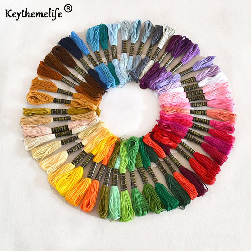 50pcs//set DIY Cross Stitch Cotton Embroidery Thread Floss Sewing Skeins Craft