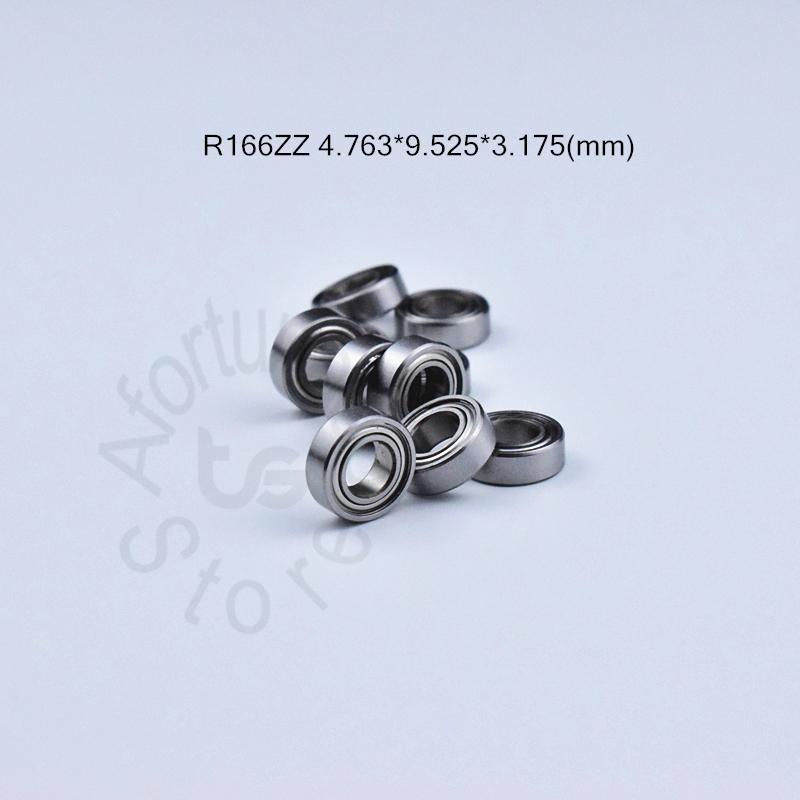 R166ZZ rodamiento 10pcs miniatura Mini cojinete cromo acero para rodamientos R166 R166ZZ 4,763 * 9,525 * 3,175 envío libre R166