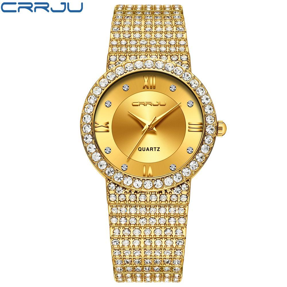 CWP 2021 CRRJU casal assistir moda homens pulseira de jóias pulseira de aço inoxidável relógios de quartzo mulheres vestido relógio de pulso masculino amante presente
