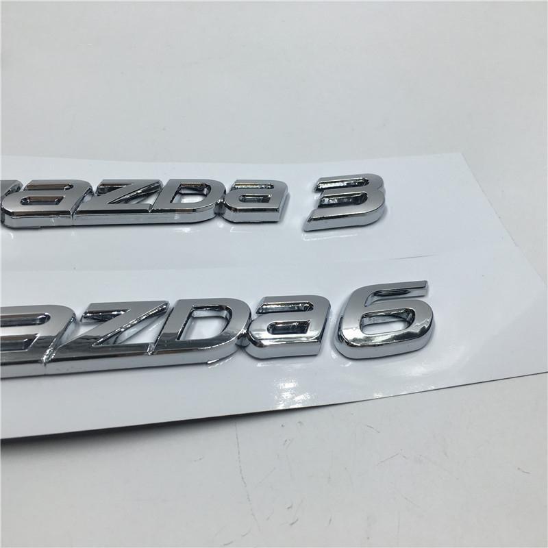 Autoadesivi dell'automobile e decalcomanie JDM Adesivi per Mazda 3 6 Logo Emblem Badges posteriore del tronco Numero Lettere Targhetta Accessori auto
