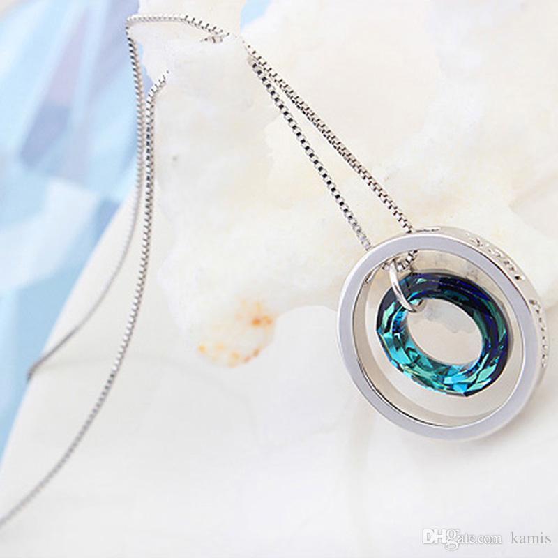 Collana girocollo di lusso per le donne veri cristalli Swarovski da Scatola del partito di nozze della catena di modo Colar gioielli