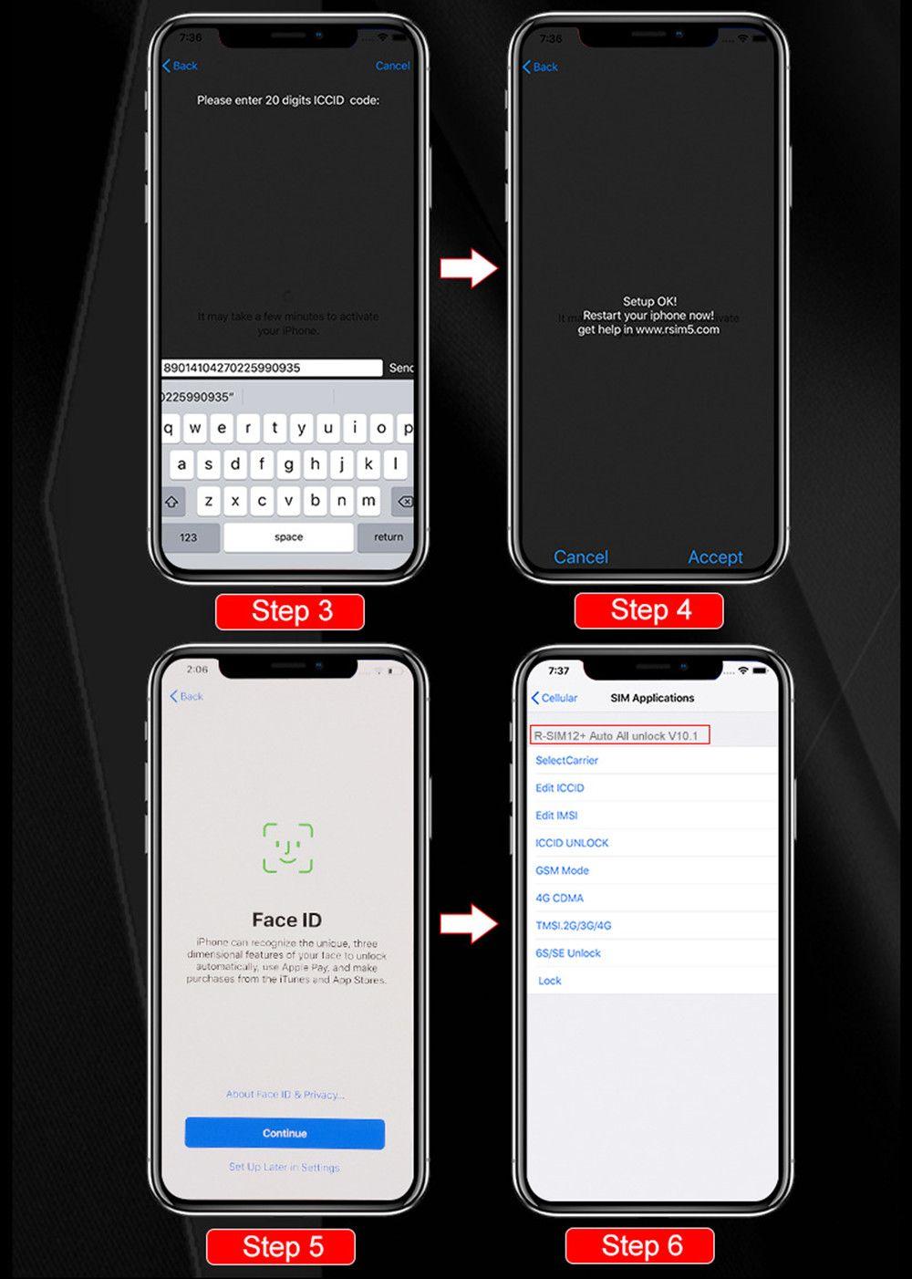 Iphone 6s Sim Karte.Handy Simlock Freischalten Rsim12 Perfect Unlock Für Iso 12 3 R Sim 12 Original Sim Karte Iccid Unlock Für Iphone Xs X 8 7 Vs R Sim 14 Handys