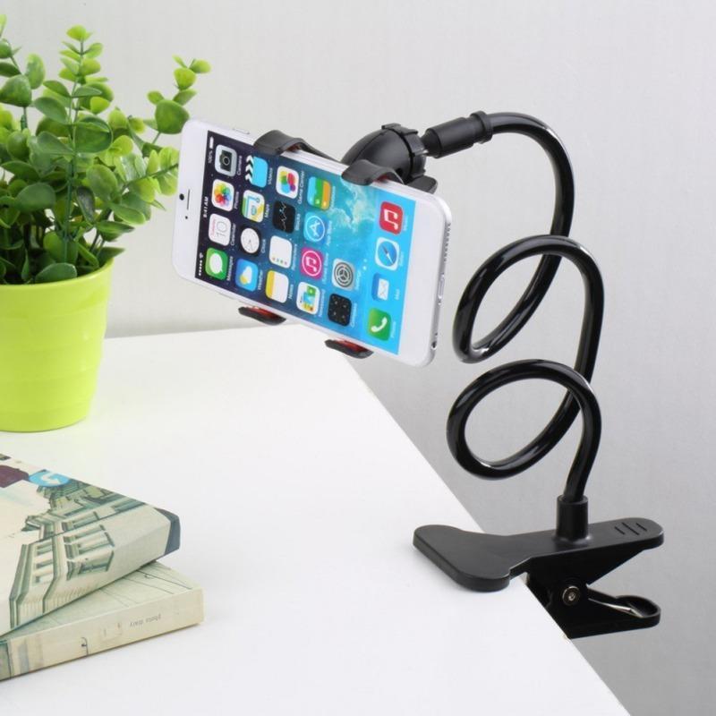 Universal preguiçoso Titular braço flexível Mobile Phone Suporte Stents Titular Bed Desk Tabela Clipe Gooseneck Suporte para telefone Muti Cores
