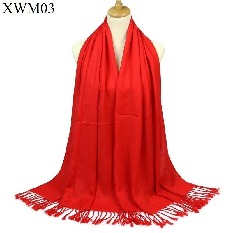 Solid Color China Red Scarf Twill Cotton Pure Cotton Shawl Company Annual Meeting Gift Gift
