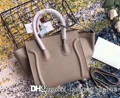Hot New Fashion Designer Mulheres Trapze Tote Sorriso bolsas de couro de ombro do couro genuíno Strap Bat Bag Clutch Handbag Crossbody Boston Bag